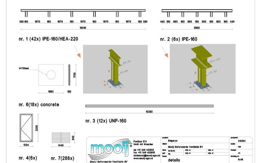 3d bouwtekening tekenwerk ventilatie units details