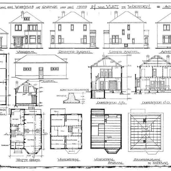 Digitaliseren oude bouwtekening huis
