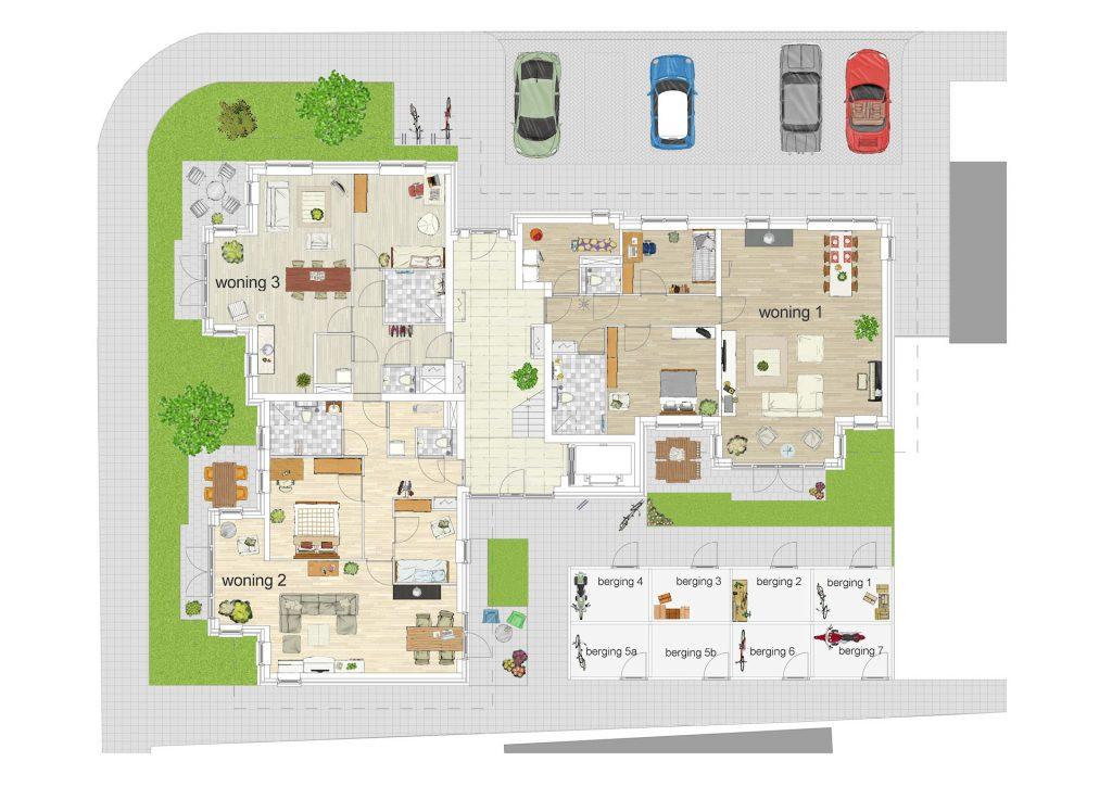 Huis verkopen voo plattegrond met inrichting naar for Plattegrond van je huis maken