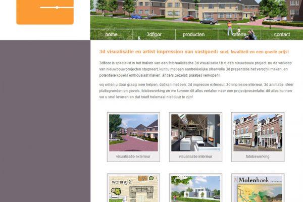 nieuwe website 3dfloor - printscreen oude website